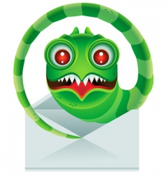 email worm vector image