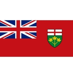 Flag of Ontario in correct proportions and colors vector image