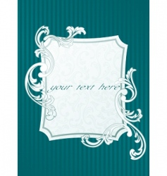 French style frame vector image