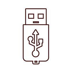 usb storage technology vector image
