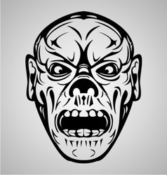 Zombie face tribal vector