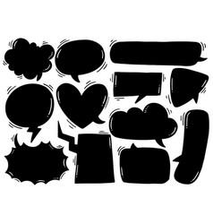 0021 hand drawn background set cute speech vector