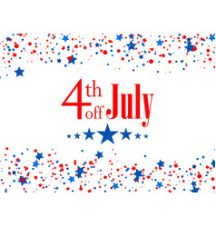 4th july usa independence day vector