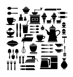 A set of cafe vector image