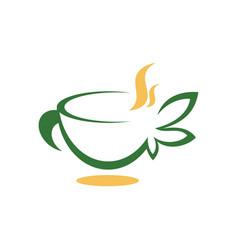 abstract cup of tea image vector image