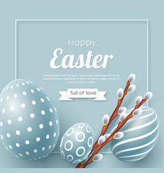 Abstract easter blue background vector