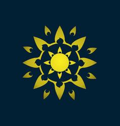 abstract luxury logo symbol vector image