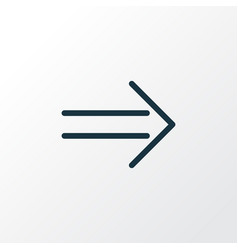 arrow sign icon line symbol premium quality vector image