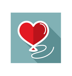 Balloon in the form of heart icon vector