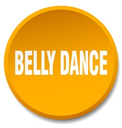 Belly dance orange round flat isolated push button vector