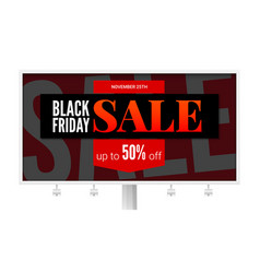 billboard with sale poster black friday ad vector image