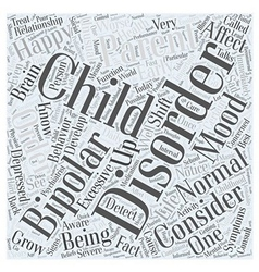Bipolar disorder child Word Cloud Concept vector