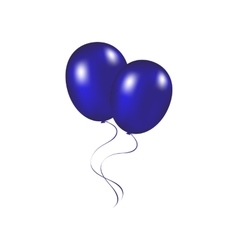 Blue festive balloons on a vector