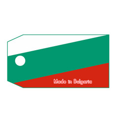 Bulgaria flag on price tag vector