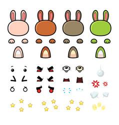 Bunny game sprites vector