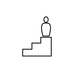 business stair icon vector image