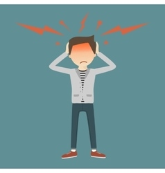 Businessman with Headache vector image