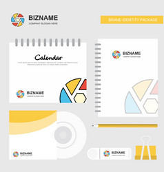 camera shutter logo calendar template cd cover vector image
