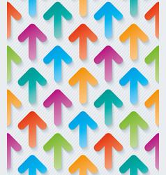 colorful arrow 3d wallpaper vector image