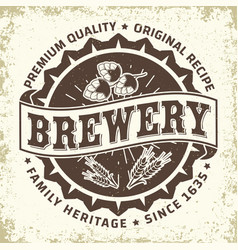 craft beer emblem design vector image