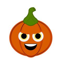 cute halloween pumpkin cartoon character vector image