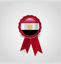 egypt flag ribbon banner badge vector image