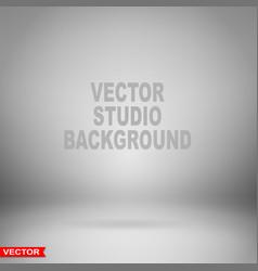 Empty gray studio background layered vector