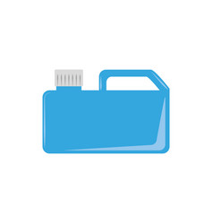 engine canister plastic flat icon blue vector image