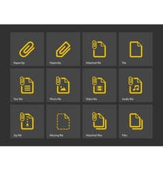 File Clip icons vector