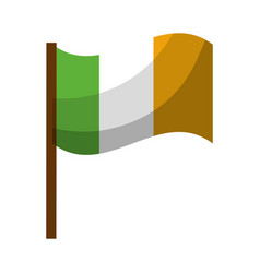 Flag symbol irland celebration vector