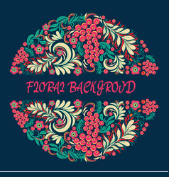 floral background in ethnic style decorative vector image