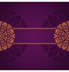 Floral Indian pattern vector image