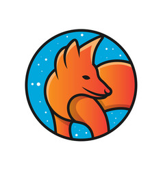 Fox animal logo design vector