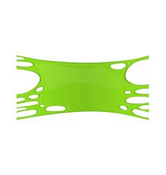 frame of green sticky slime vector image