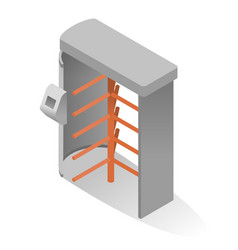 full height turnstile isometric icon revolving vector image