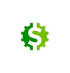 gear money logo icon design vector image