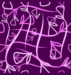 Geometric pattern made from plant violet and pink vector