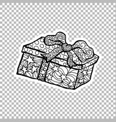 gift paper box sticker ornate vector image