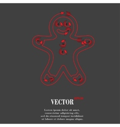 Gingerbread Flat modern web button and space for vector