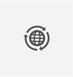 Globe reload icon vector
