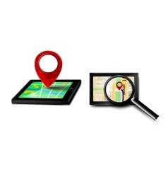 Gps navigator icons vector image