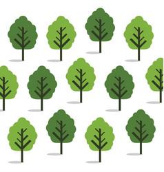 green trees seamless wallpaper vector image