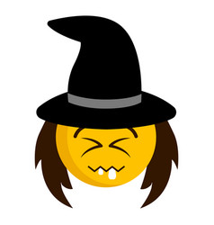happy witch emoji icon vector image