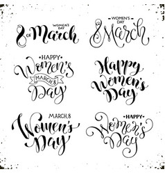 happy womens day phrases vector image