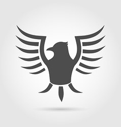 Heraldic eagle symbol isolated on white background vector image