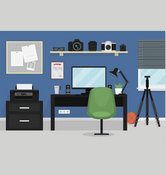 Interior of modern teenager room vector