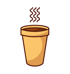 Isolated hot coffe cup vector
