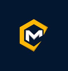 letter cm business creative logo design vector image