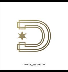letter d planet logo design concept template vector image