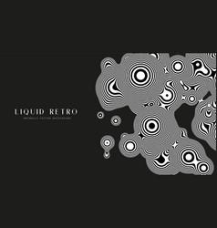 Liquid retro 3d zebra metaball with organic vector